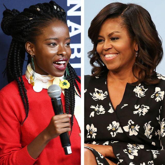 amanda gorman and michelle obama