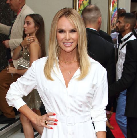 Amanda Holden steps out in the perfect white summer dress from Topshop