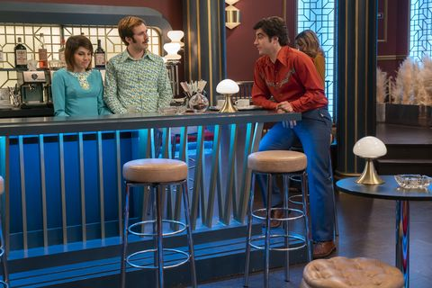 Blue, Bar stool, Furniture, Stool, Table, Room, Interior design, Leisure, Restaurant,