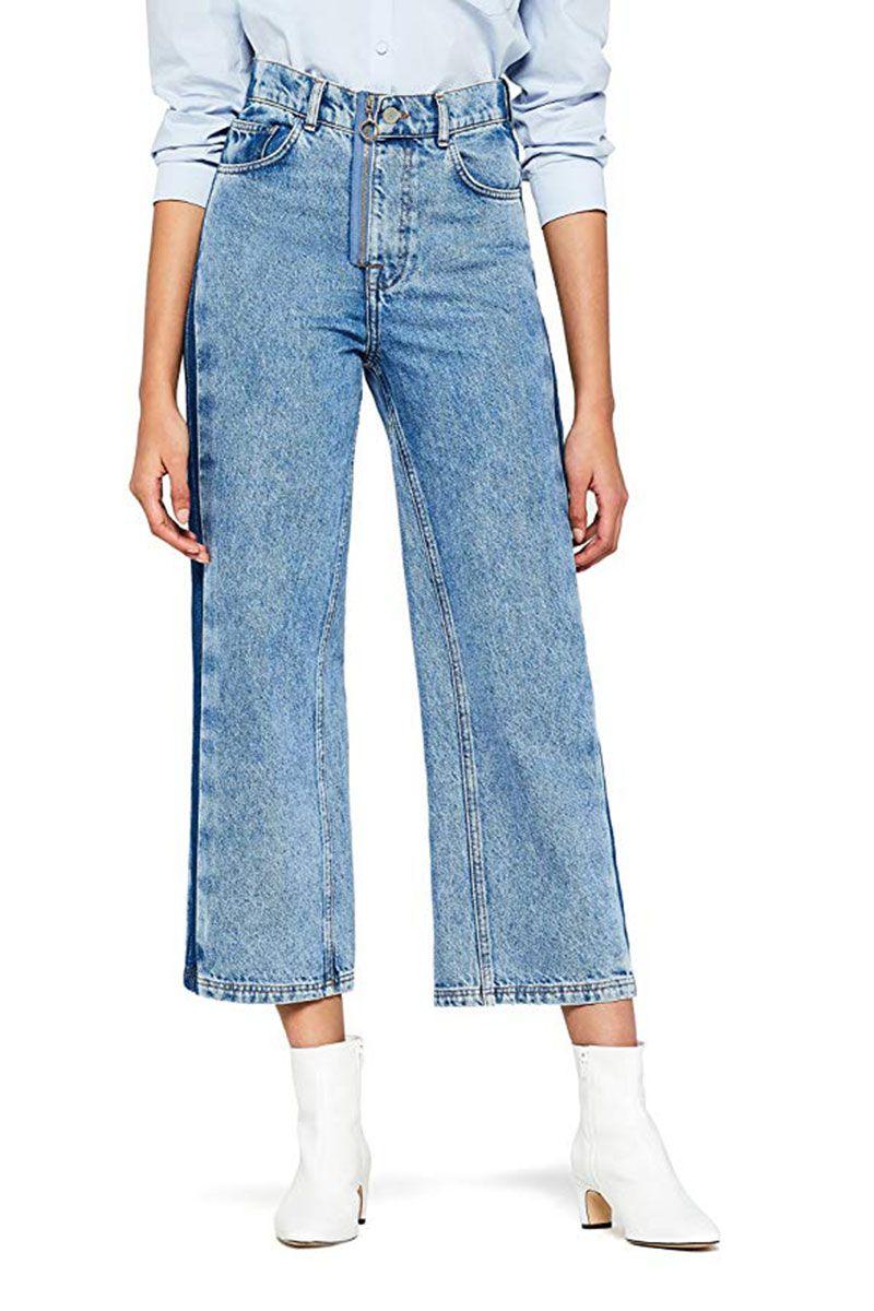8832029b Zara Ripped Denim Pencil Skirt