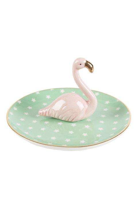 Bird, Water bird, Flamingo, Swan, Dishware, Tableware, Serveware, Ducks, geese and swans, Plate, Feather,