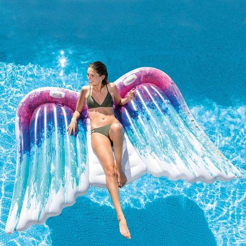 colchoneta, playa, hinchable, piscina, verano, alas, ángel