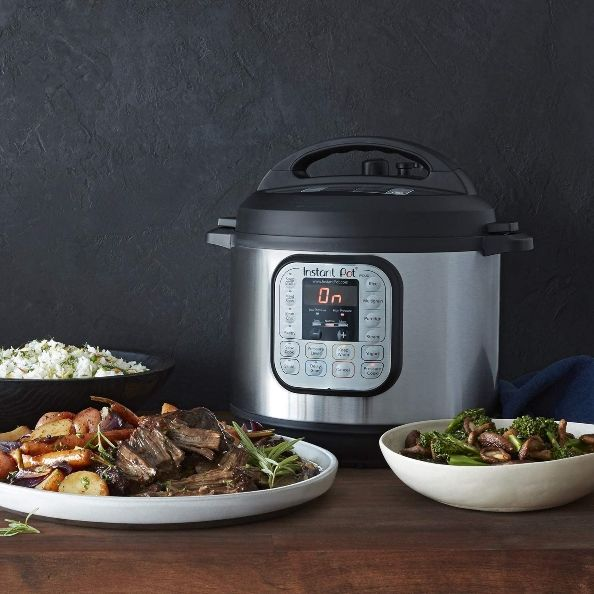instant pot and linenspa comforter on amazon