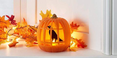 trick-or-treat, Calabaza, Orange, Pumpkin, Jack-o'-lantern, Heat, Plant, Hearth, Room, Cucurbita,
