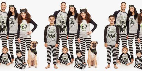 Clothing, Fashion, Pajamas, Leggings, Sleeve, Black-and-white, Trousers, Child, Child model, T-shirt,