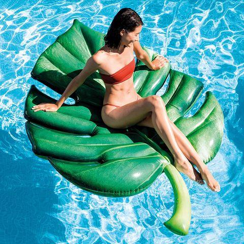 colchoneta, playa, hinchable, piscina, verano, hoja