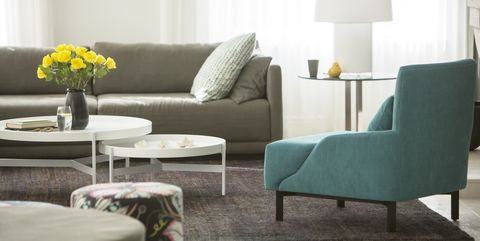 Room, Interior design, Green, Floor, Furniture, Wall, Flooring, Living room, Table, Home,