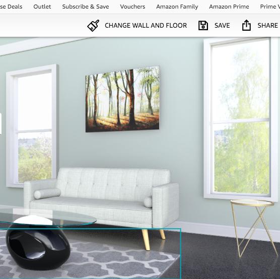 amazon showroom, room visualiser