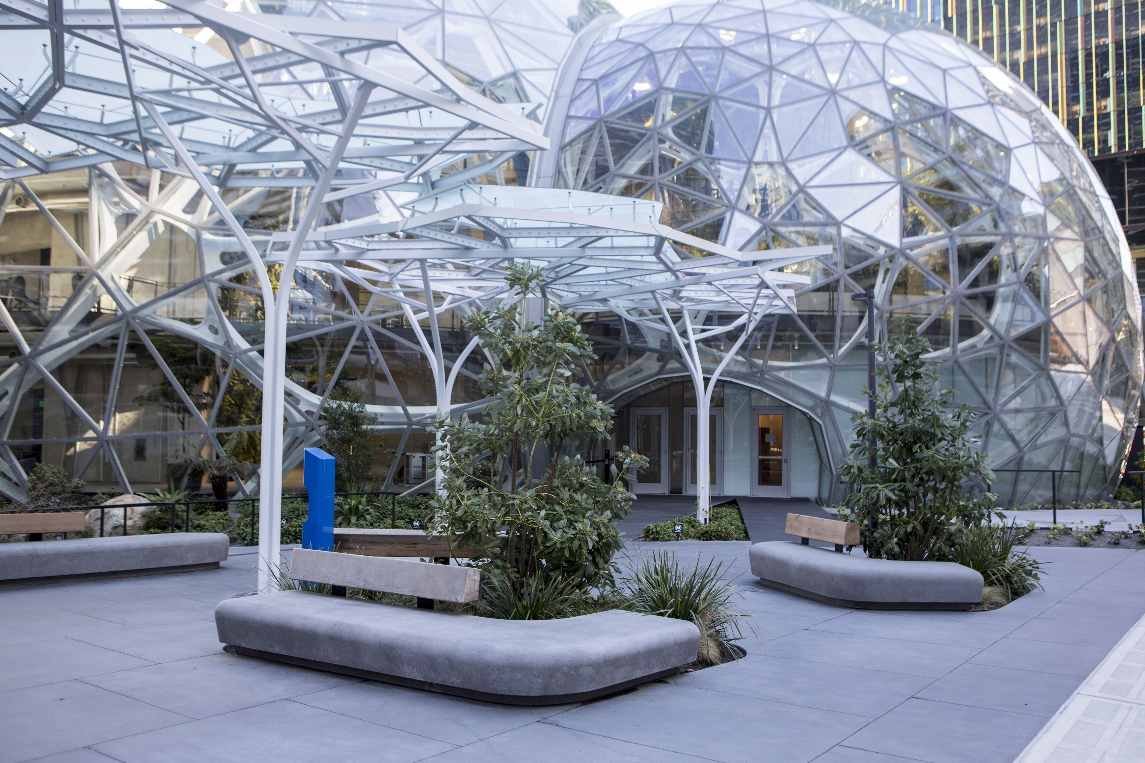 Amazon Spheres at Headquarters Building, Seattle Washington USA