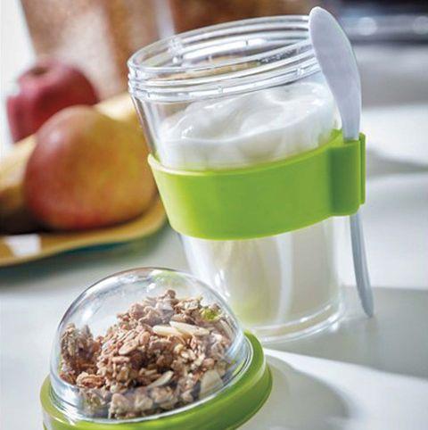 Vaso para yogur con cereales