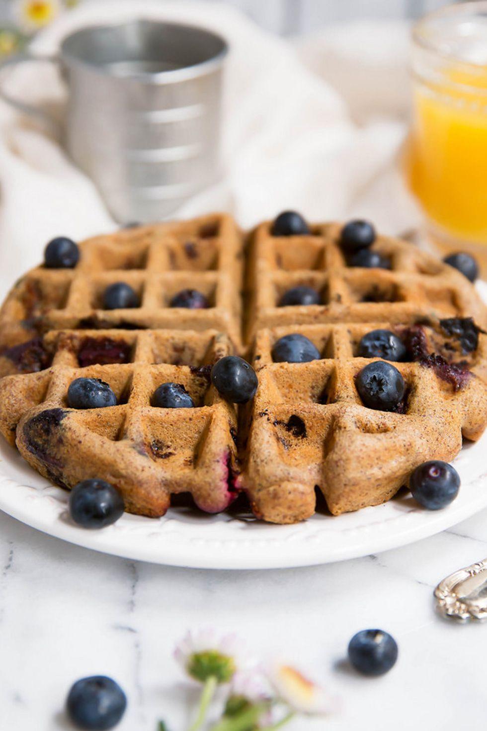 Almond Butter Paleo Blueberry Waffle