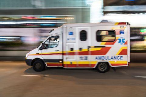 Vehicle, Motor vehicle, Car, Emergency vehicle, Ambulance, Van, Mode of transport, Transport, Emergency, Commercial vehicle,