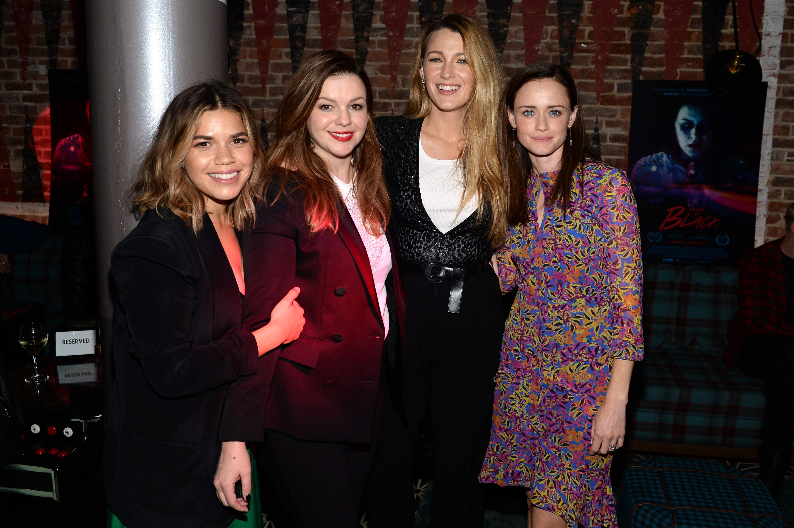 Blake Lively, Alexis Bledel, America Ferrera & Amber Tamblyn This girl gang starred together in The Sisterhood of the Traveling Pants, and their sisterhood extended off screen, too. They've been in each other's weddings and celebrated each other's pregnancies.