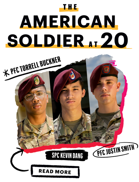 american soldiers at 20
