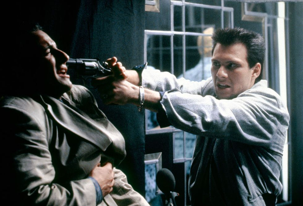 True Romance (1993) Christian Slater whips out a gun prop on the set of True Romance. The film was the first screenplay written by Tarantino that he didn't direct himself.