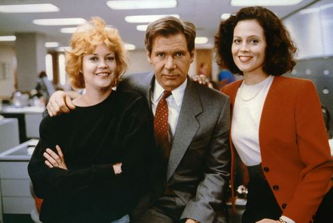 On the set of Working girl
