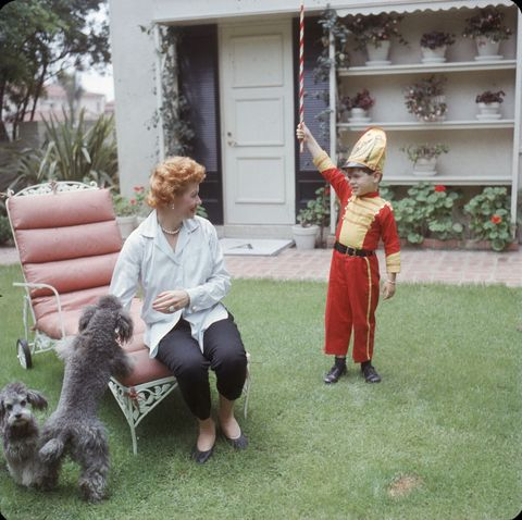 Lucy & Desi Jr In the Yard
