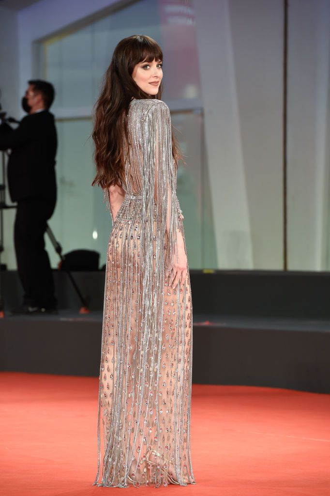 Dakota Johnsons Butt Is A 🍑 In A Sheer Gown At The Venice