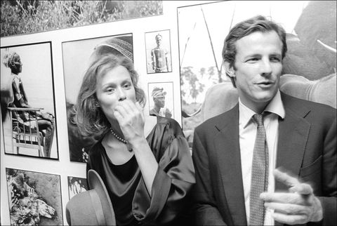 Peter Beard & Lauren Hutton At The Opening Of His Exhibition