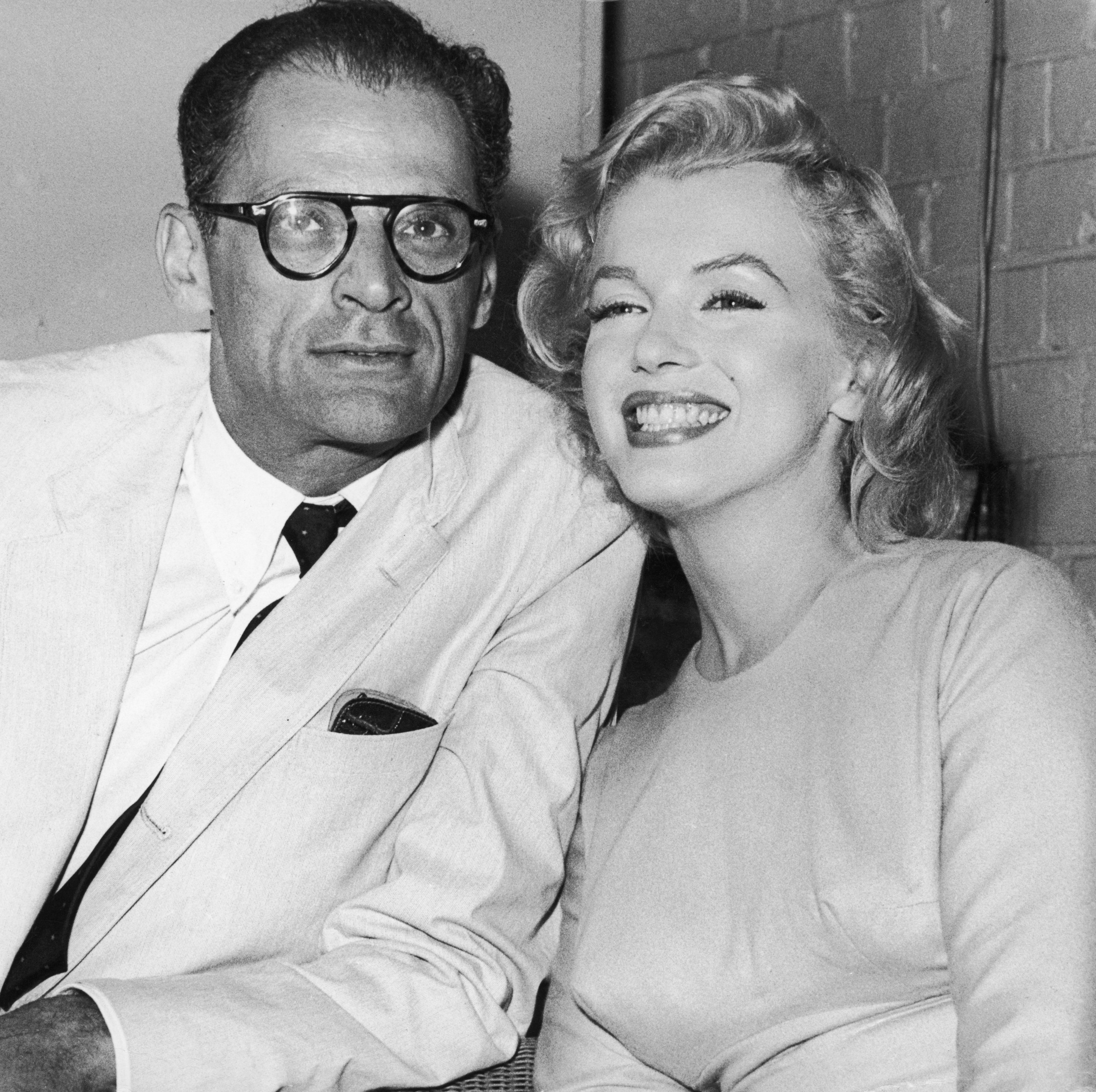 Arthur Miller and Marilyn Monroe The playwright and iconic actress married in 1956 (it was her third marriage and his second), but it didn't last long. Marilyn converted to Judaism for Arthur and stepped out of the spotlight for a while, but their marriage fell apart while they were filming The Misfits, which he wrote and she starred in .
