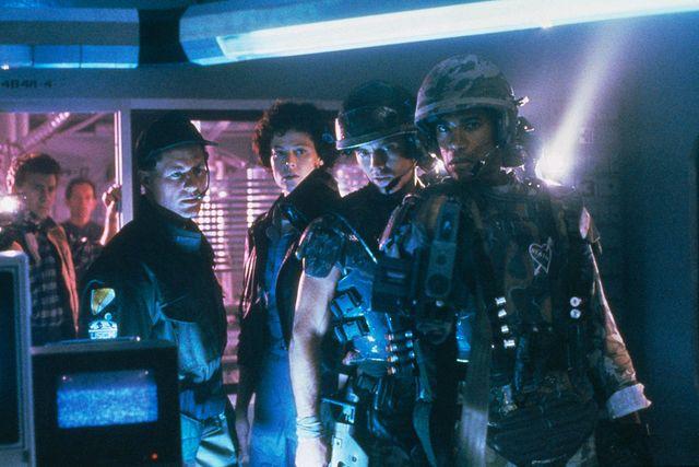on set of the movie aliens