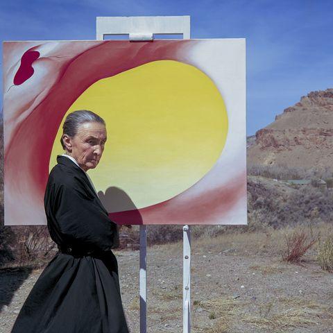 Georgia O'Keefe Painting Outdoors