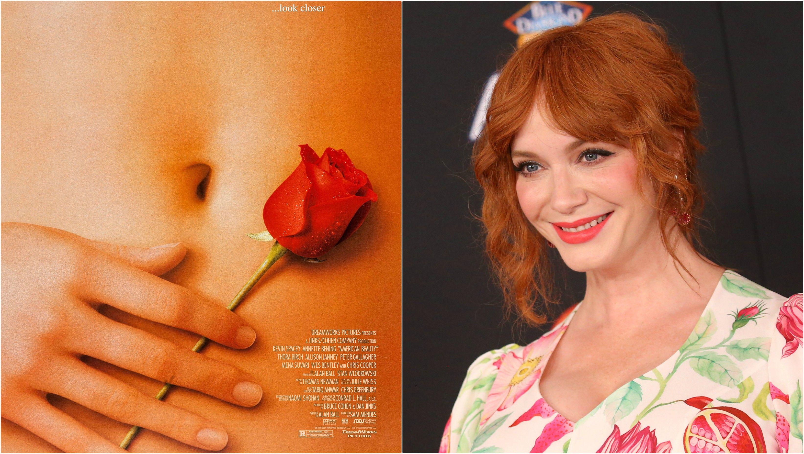 'American Beauty': ¡La mano del póster es Christina Hendricks!