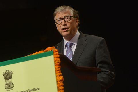 bill gates clicked at a event in new delhi