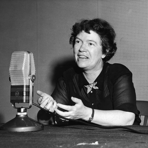 anthropologist margaret mead gives a radio interview