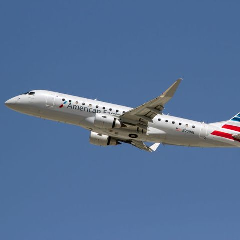 American Eagle (flight operated by Compass Airlines) Embraer...