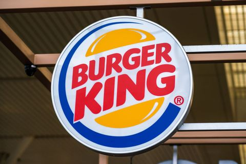 American fast food restaurant chain Burger King logo seen in...