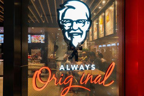 American fast food restaurant chain, Kentucky Fried Chicken...