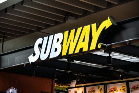 american fast food restaurant franchise subway logo seen in