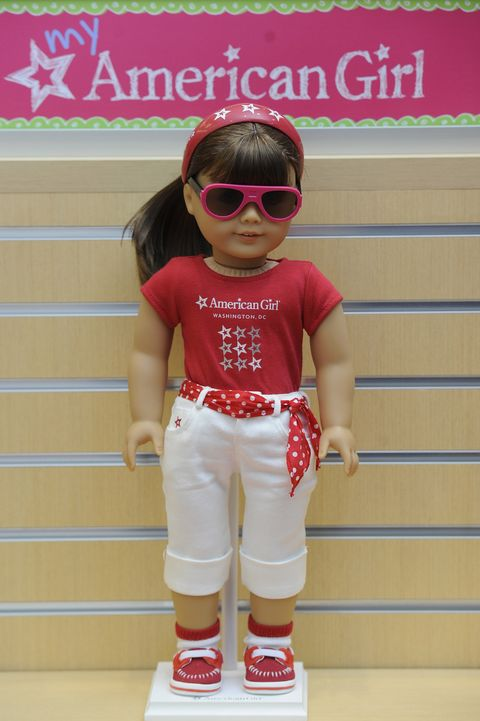 mclean, va    june 6   a doll wearing an american girl washington, dc shirt is seen at the american girl washington, dc store at tysons corner center on monday june 6, 2011 in mclean, va  photo by matt mcclainfor the washington post via getty images