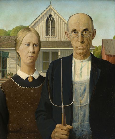 Grant Wood: American Gothic