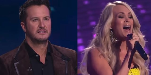 ff2de2e37c2 'American Idol' Judge Luke Bryan Had the Most Awkward Reaction to Carrie  Underwood at 2019 Finale