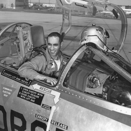 Arab Americans -- Col. Jabara In His Plane