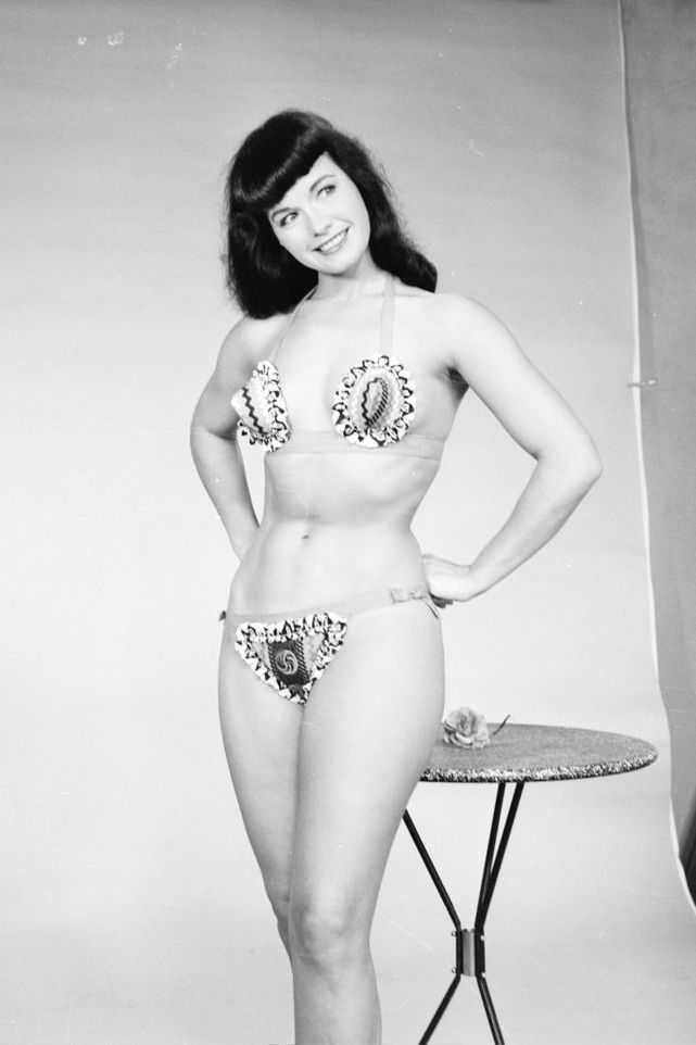Bettie Page Poses In Studio