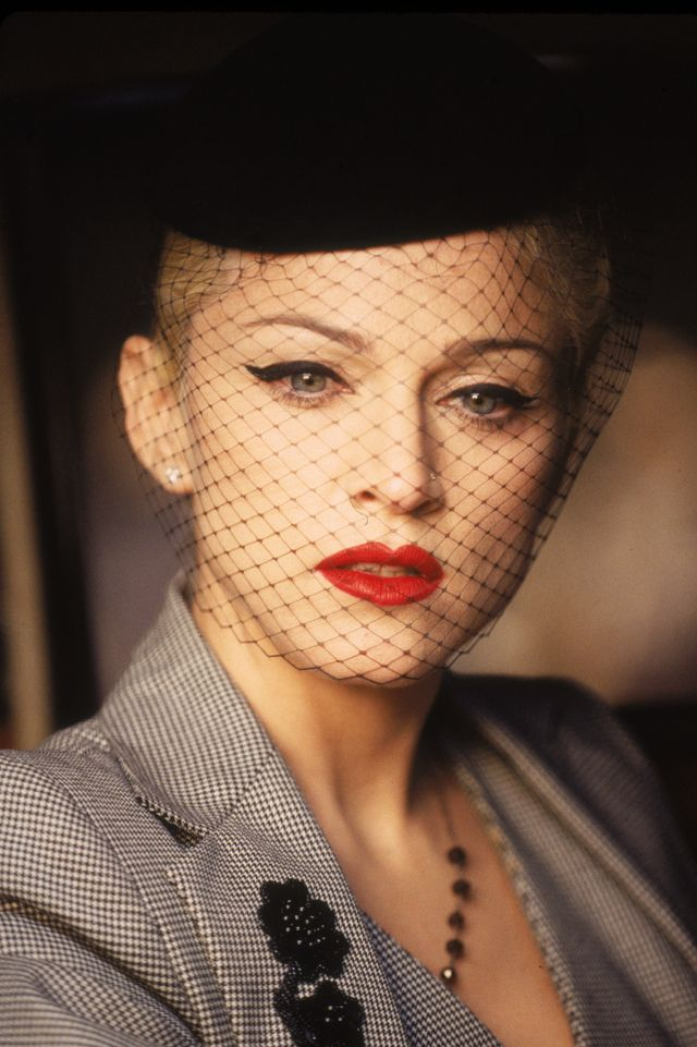 madonna during 'take a bow' video shoot