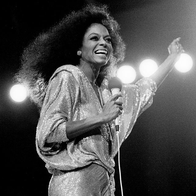 diana ross performs on stage
