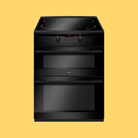 Amica AFN6550MBwith Electric Double Oven Cooker With Induction Hob