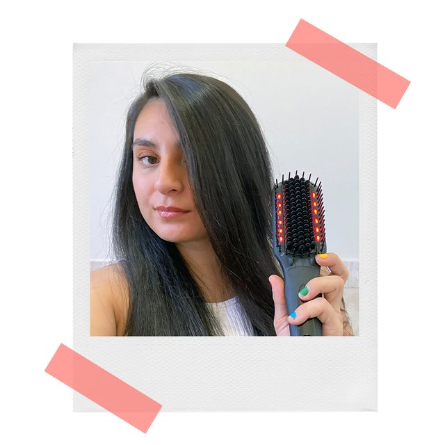 jen with amika thermal brush