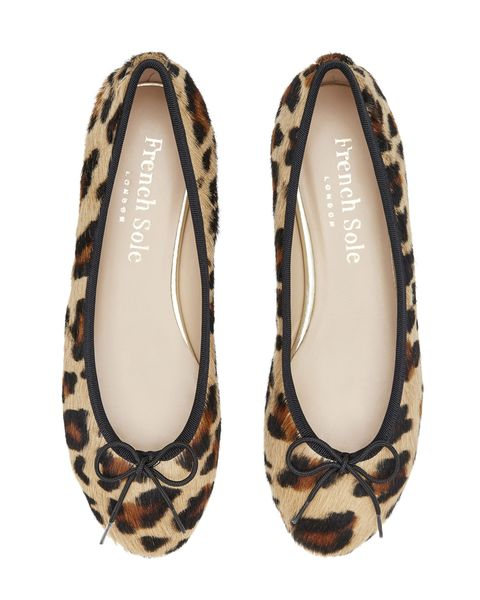 french sole leopard ballet flat shoes ballerina