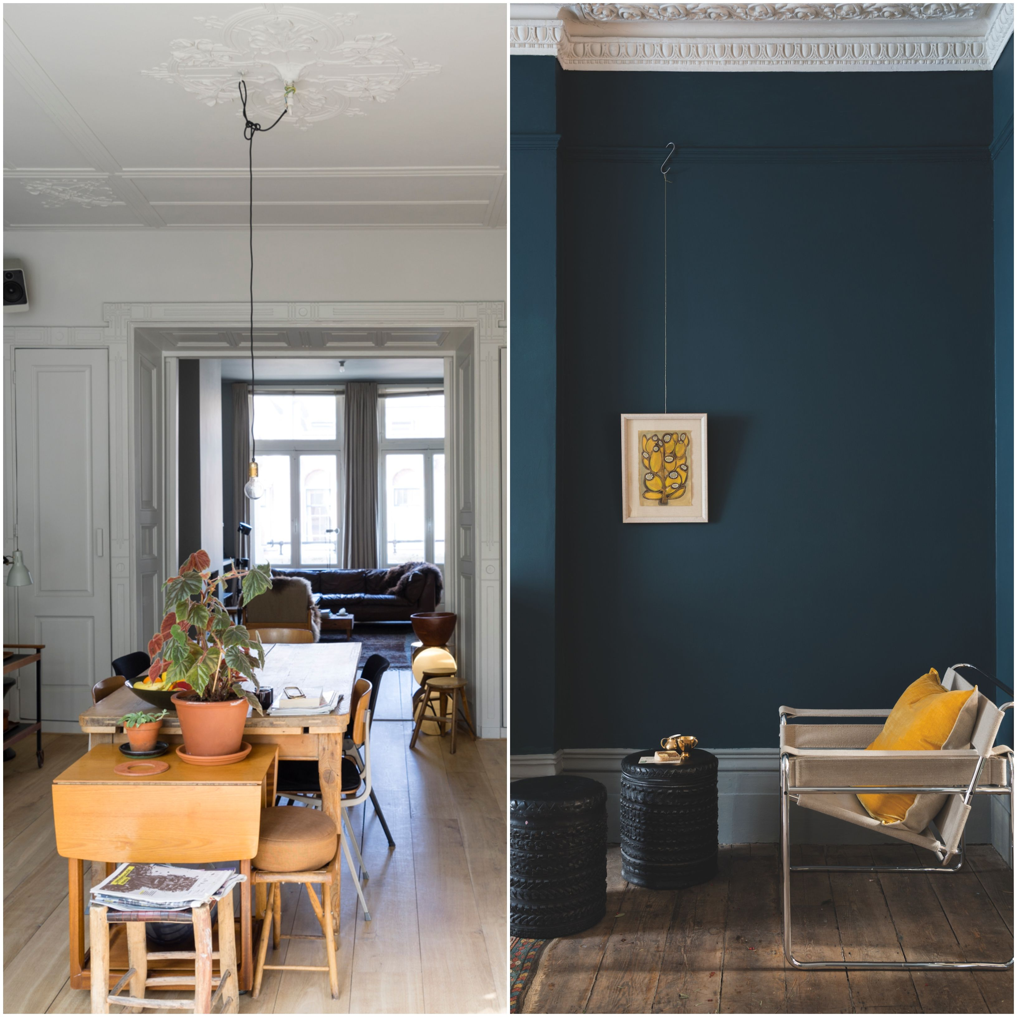 How To Decorate With Farrow And Ball Ammonite Hague Blue