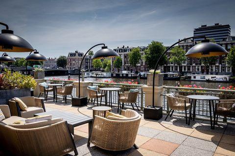 beste terrassen amsterdam amstel restaurant terras