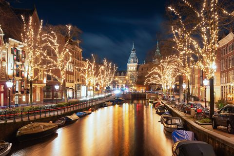 The Spiegelgracht in the old town of Amsterdam