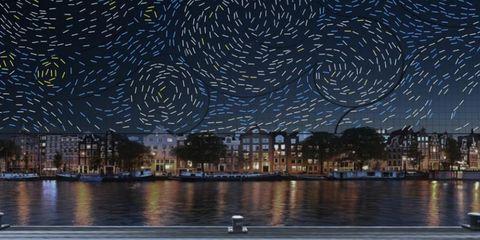 Tijdens Amsterdam Light Festival stap je in Van Goghs Sterrennacht