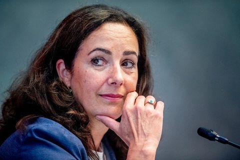 amsterdam mayor femke halsema speaks during an emergency