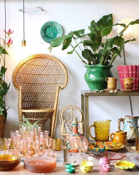 Green, Turquoise, Yellow, Table, Room, Brunch, Spring, Centrepiece, Branch, Furniture,