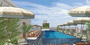 Soho House Amsterdam Rooftop zwembad bar